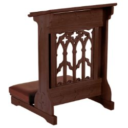 Canterbury Collection Padded Kneeler - Walnut Stain