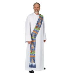 Story of Christmas Tapestry Deacon Stole