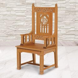 Florentine Collection Celebrant Chair - Medium Oak Stain