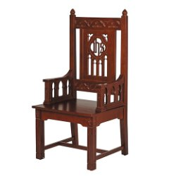 Florentine Collection Celebrant Chair - Walnut Stain