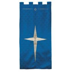Maltese Jacquard Banner - Blue Bethlehem Star