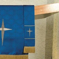 Maltese Jacquard Bookmark - Blue Bethlehem Star