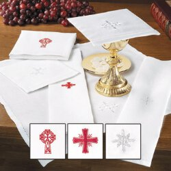 Linen/Cotton Blend Chalice Pall - 3/pk