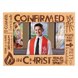 Confirmed in Christ Confirmation Photo Frame - 6/pk