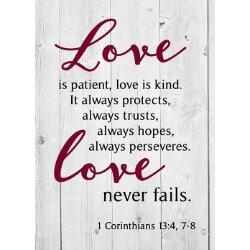 Love is Patient, Love is Kind Journal - 12/pk