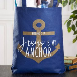 Jesus is My Anchor Tote Bag - 12/pk