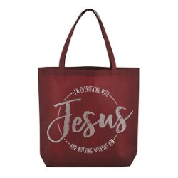 I'm Everything with Jesus Tote Bag - 12/pk