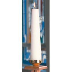 Plain White Christ Candle