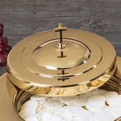 Brass Finish Stacking Bread Plate Cover