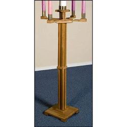 Church Advent Candlestick - Pecan Stain