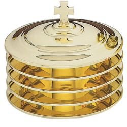 Highly Polished Solid Brass Stacking Bread Plate