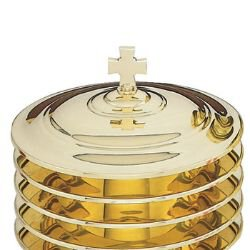 Highly Polished Solid Brass Bread Plate Cover