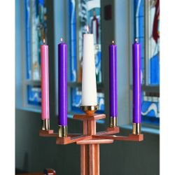 Church Advent Candle Set - Purple/Rose