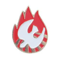 Dove with Flame Confirmation Lapel Pin - 25/pk