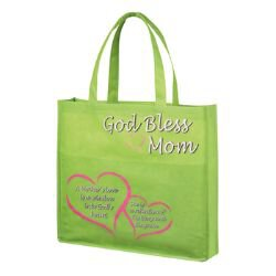 Mom Tote Bag with Outside Pocket - 12/pk