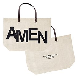 Large Jute Bag - AMEN