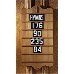 Wall Mount Hymn Board - Pecan Stain