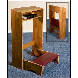 Folding Padded Kneeler - Pecan Stain
