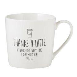 Thanks a Latte Cafe Mug