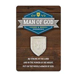Man of God Lapel Pin with Card - 12/pk