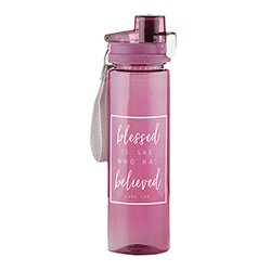 Blessed is She Who Has Believed Water Bottle - 4/pk