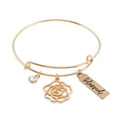 Blessed is She Who Has Believed Bangle Bracelet - 6/pk
