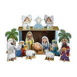 Chipboard Nativity Set - 6/pk