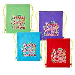 Jesus is the Reason for the Season Backpack Assortment (4 Asst) - 16/pk