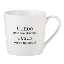 Coffee Gets Me Started Cafe Mug