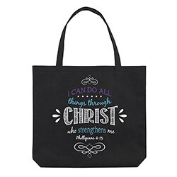 I Can Do All Things Through Christ Tote Bag - 12/pk