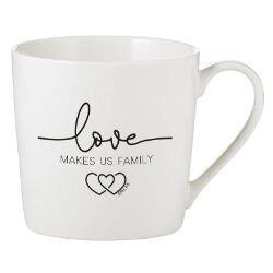 Love Makes Us Family Cafe Mug