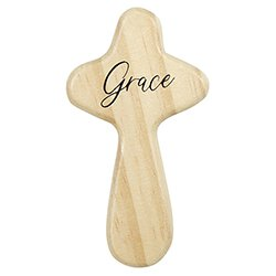 Grow in Grace Prayer Cross with Card - 12/pk