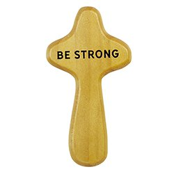 Be Strong & Courageous Prayer Cross with Card - 12/pk