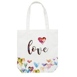 Done in Love Tote Bag with Inside Pocket - 8/pk