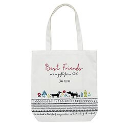 Best Friends Tote Bag with Inside Pocket - 8/pk