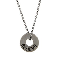 Believe Circle Pendant - 6/pk