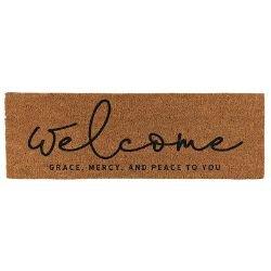 Welcome - Grace, Mercy, Peace to You Door Mat