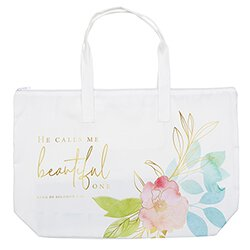 He Calls Me Beautiful One Zipper Tote - 2/pk