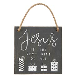 Jesus is the Best Gift of All Ornament - 12/pk