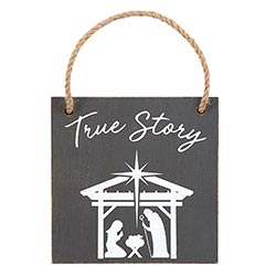 True Story Nativity Ornament - 12/pk