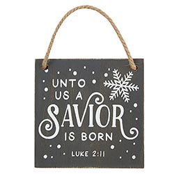 A Savior is Born Ornament - 12/pk
