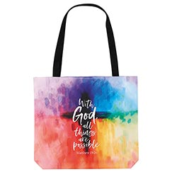 With God All Things are Possible Tote Bag - 3/pk
