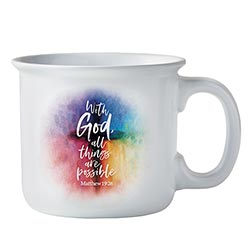 With God All Things are Possible Coffee Mug - 4/pk