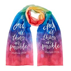 With God All Things are Possible Scarf