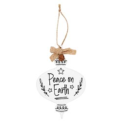 Peace on Earth Jingle Ornament - 12/pk