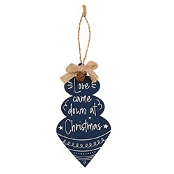 Love Came Down at Christmas Jingle Ornament - 12/pk