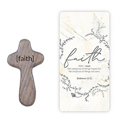 Faith Hand-Held Prayer Cross with Card - 12/pk