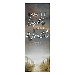 I am the Light of the World X-Stand Banner