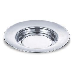 Polished Aluminum Bread Plate - Silver Tone