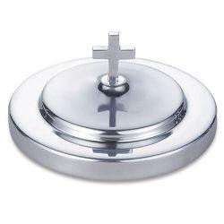 Polished Aluminum Bread Plate Cover - Silver Tone